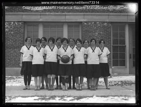 Women's basketball team, South Portland High School, 1926