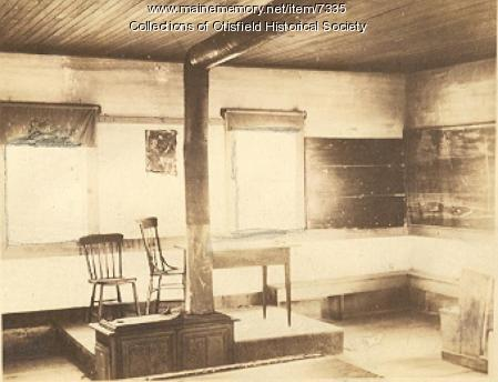 Interior, Scribner Hill School, Otisfield, 1924