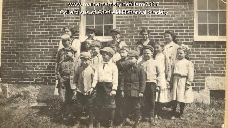 Spurrs Corner School, Otisfield, about 1910