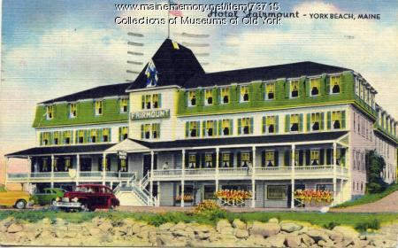 Hotel Fairmount, York Beach, ca. 1940