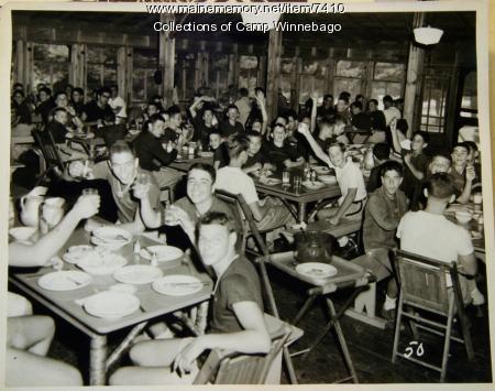 Dining hall at Camp Winnebago, 1957