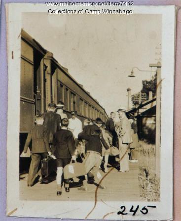 Train to Camp Winnebago in 1935