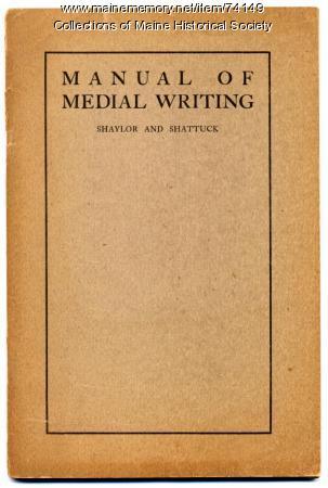 'Manual of Medial Writing,' 1904