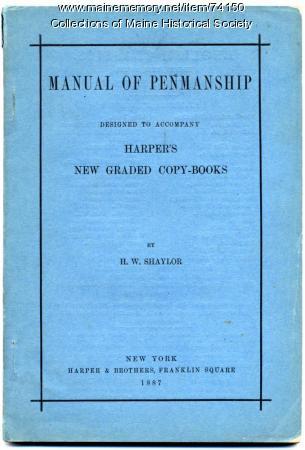 'Manual of Penmanship,' 1887