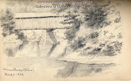 Hiram Bridge drawing, 1909