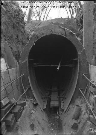 Main Street sewer construction, Biddeford, 1914 - 1915