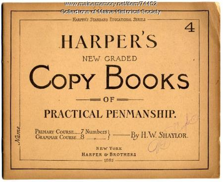 'Harper's New Graded Copy Books,' 1885