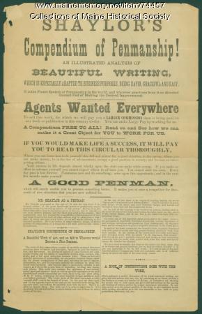 Shaylor advertisement, ca. 1881