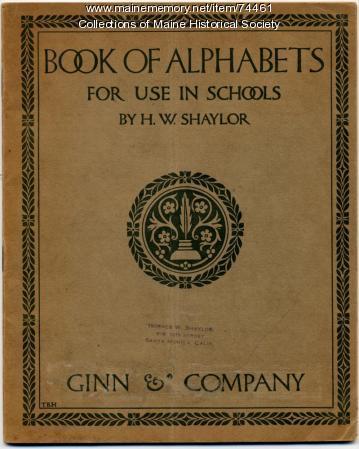 """Book of Alphabets,"" 1908"