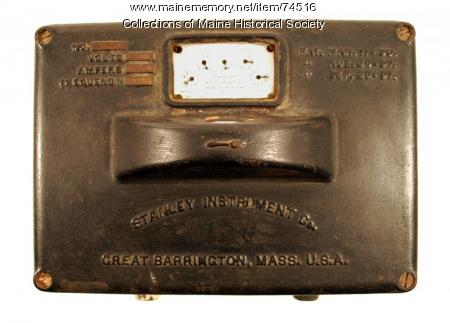 Stanley Model D electric meter, 1898