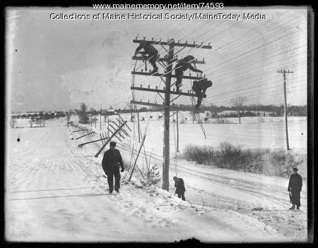 Snow Storm Damage, 1924