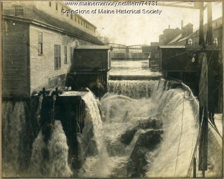 Messalonskee dam, Oakland, ca. 1900