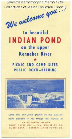 Indian Pond brochure, ca. 1955