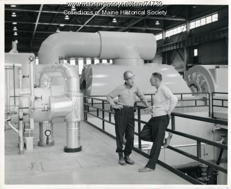 Wyman Station generating unit, Yarmouth, 1965