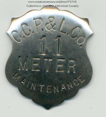 Power company employee badge, ca. 1915