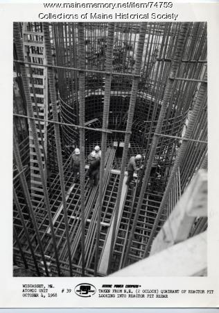 Maine Yankee reactor pit construction, Wiscasset, 1968