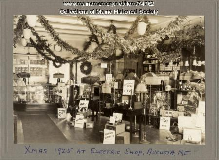 Electric shop display, Augusta, 1925