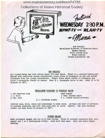 ElectriKitchen recipes, 1954