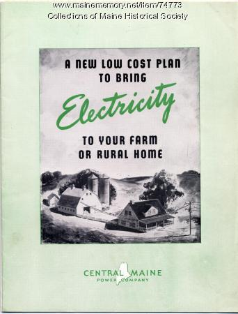 Rural electrification brochure, ca. 1935