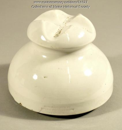 Pin-type electrical insulator, ca. 1897