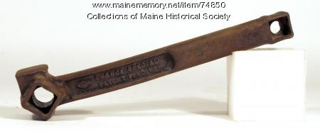 Chance 'special' wrench, ca. 1928