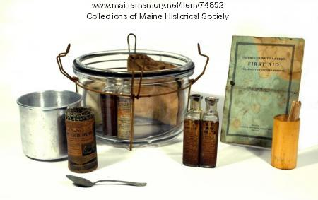 Electrical first-aid kit, ca. 1914