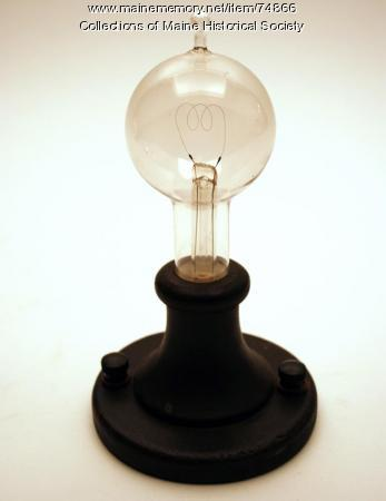 Reproduction 1879 light bulb, ca. 1929