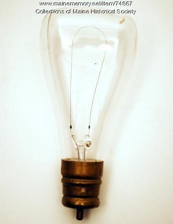 Carbonized cellulose filament bulb, ca. 1895