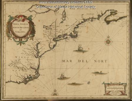 Nova Anglia, Novum Belgium et Virginia, ca. 1642