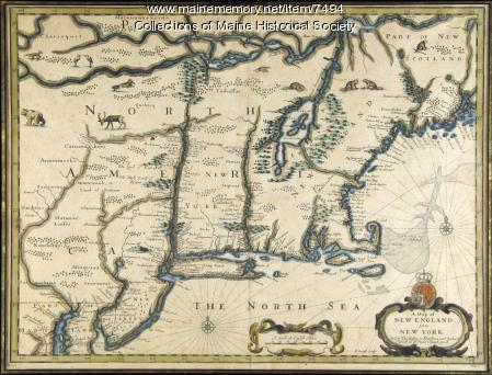 Map of New England, New York, ca. 1676