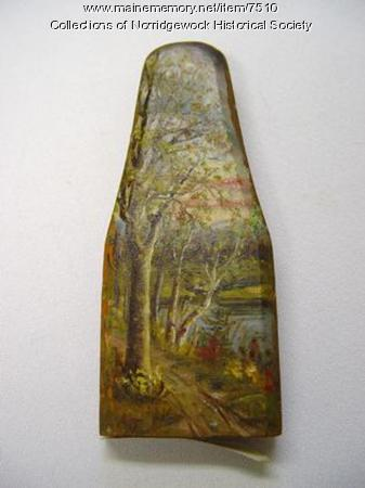 Painting on Wood from Norridgewock Covered Bridge