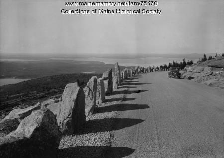 Cadillac Mountain Road, Acadia National Park, ca. 1940