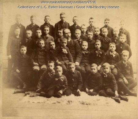 George Walter Hinckley with Good Will boys, Fairfield, 1893