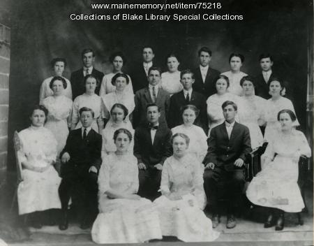 Madawaska Training School class photo, Fort Kent, 1912