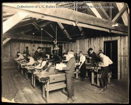 Good Will students woodworking, ca. 1925