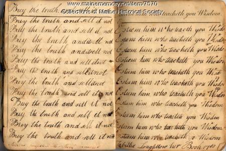 Tabitha Longfellow's writing book, 1788-89