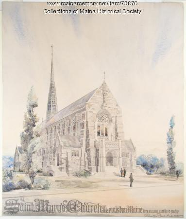 St. Mary's Church, Lewiston, ca. 1925