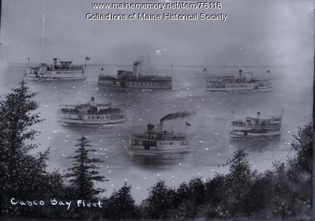 Casco Bay fleet, Portland, ca. 1900