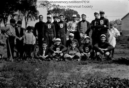 Burrowes Club Baseball Team, Portland, 1910