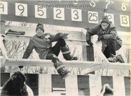 Scorekeepers at the 1971 Sugarloaf world Cup