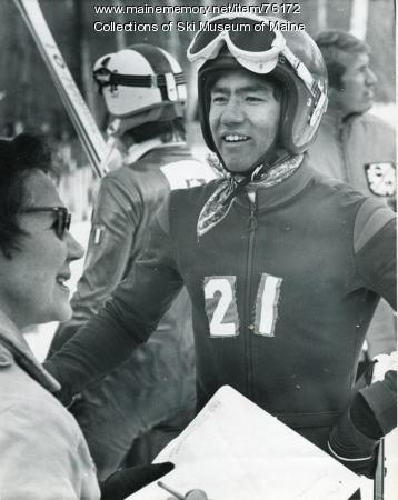 U.S. racer at finish, Sugarloaf, 1971