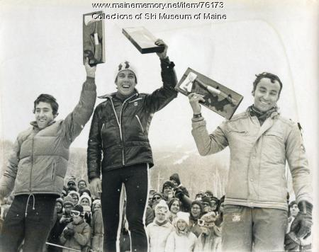 Brandishing trophies, Sugarloaf, 1971