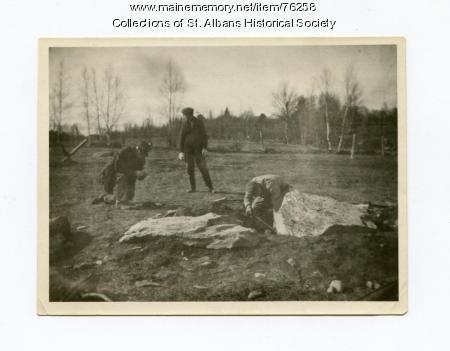 Blowing the Big Rock at Pond School, St. Albans, 1922