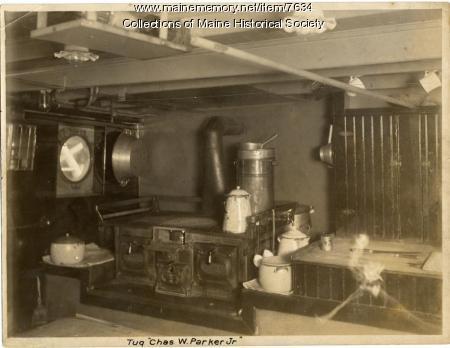 'Chas. W. Parker Jr.' interior, Portland, ca. 1909