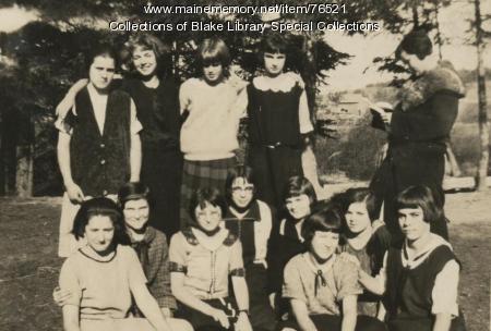 Madawaska Training School students, Fort Kent, 1924