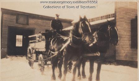 Hose Wagon, Androscoggin Fire Company, Topsham, ca. 1895