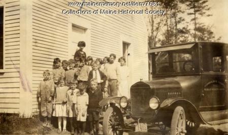 Cook's Mill School, Casco, ca. 1925