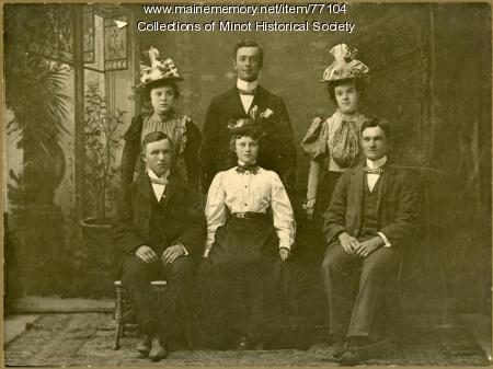 Cobb family, Minot, ca. 1895