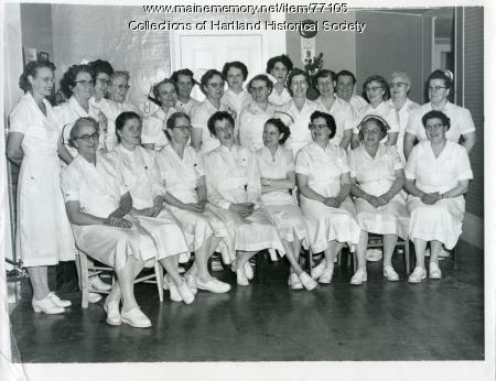 Scott-Webb Memorial Hospital nursing staff, Hartland, 1956