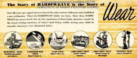 Story of Wear Hardiweave advertising brochure